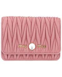 Miu Miu Metalassè Belt Bag - Pink