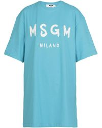 MSGM Dresses - Blue
