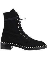 Stuart Weitzman Sondra Combat Boots - Black