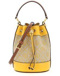 Tory Burch T Monogram Jacquard Mini Bucket Bag - Yellow