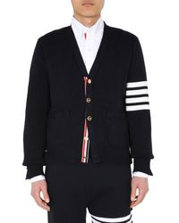 Thom Browne V-neck Cardigan - Blue