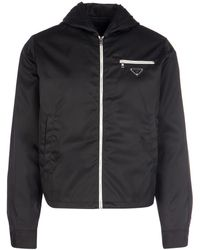 Prada Logo Zipped Jacket - Black