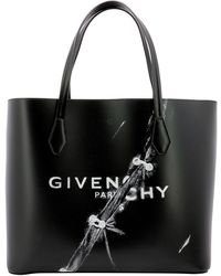Givenchy Trompe-l'oeil Wing Shopping Tote Bag - Black