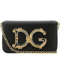 Dolce & Gabbana Dg Girls Chain Crossbody Bag - Black