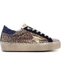 Golden Goose Deluxe Brand Hi-star Platform Sneakers - Multicolour