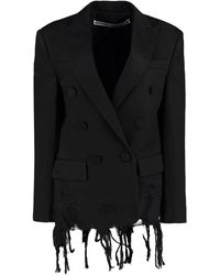 Alexander Wang Cotton Double-breasted Blazer - Black