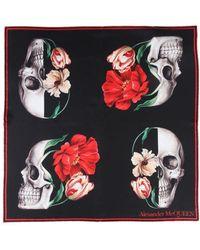 Alexander McQueen - Floral Skull Scarf - Lyst