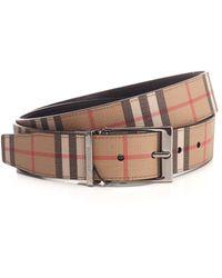 Burberry - Vintage Check Reversible Belt - Lyst