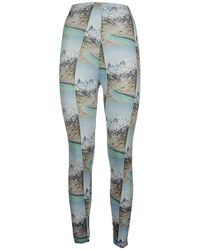 Maisie Wilen Body Shop Leggings - Blue