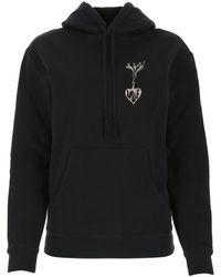 Saint Laurent Black Cotton Sweatshirt