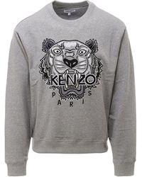 KENZO Tiger Embroidered Sweatshirt - Gray