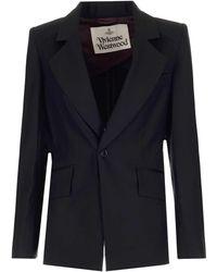 Vivienne Westwood Women's 1401005511956sin401 Black Other Materials Blazer