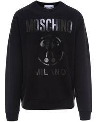Moschino Logo Printed Sweatshirt - Black