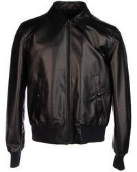 Prada Lambskin Collared Jacket - Black