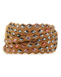 Swarovski Power Wrap Bracelet - Brown
