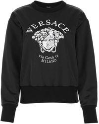 Versace Polyester Blend Sweatshirt - Black