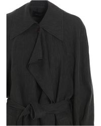 Low Classic Belted Trench Coat - Green