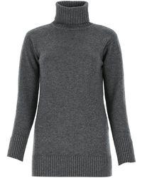 Max Mara Turtleneck Knitted Jumper - Grey