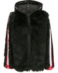 3 MONCLER GRENOBLE Stripe Trim Hooded Jacket - Black