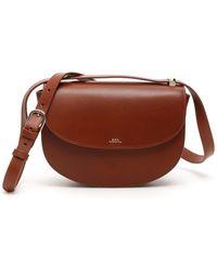 A.P.C. Geneve Crossbody Bag - Brown