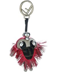Fendi Space Monkey Key Ring - Red