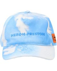 Heron Preston Tie Dye Baseball Hat - Blue