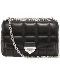 MICHAEL Michael Kors Soho Large Quilted Shoulder Bag - Black