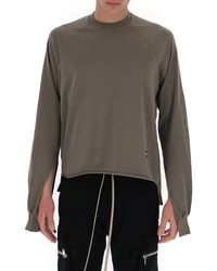 Rick Owens DRKSHDW Sleeve Cut Out Sweatshirt - Grey