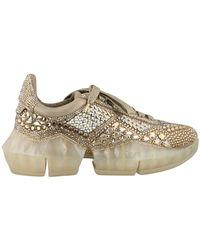 Jimmy Choo Diamond Sneakers - Metallic