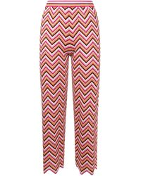 M Missoni Zig Zag Cropped Trousers - Red