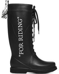 Off-White c/o Virgil Abloh For Riding Wellington Boots - Black