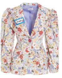 Art Dealer Floral Print Single-breasted Blazer - Multicolour