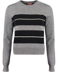 Max Mara Studio Striped Knit Jumper - Grey