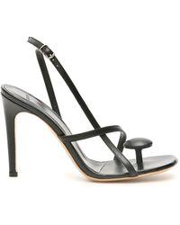 Coperni Open Toe Thong Sandals - Black