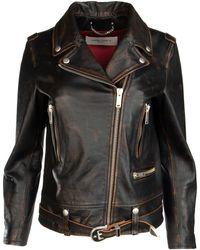 Golden Goose Leather Biker Jacket - Black