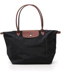 Longchamp Le Pliage Original Large Shoulder Bag - Black