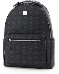 MCM Stark Visetos Backpack - Black