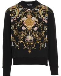 Versace Jeans Couture Barocco Print Sweatshirt - Black