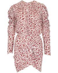 Étoile Isabel Marant Selwin Printed Mini Dress - Red