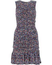 MICHAEL Michael Kors Printed Stretch Crepe Dress Nd - Blue