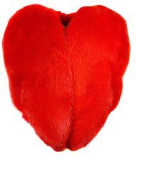 Saint Laurent Heart-shaped Coat - Red