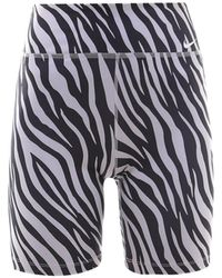 Nike Zebra Print Cycling Shorts - Multicolour