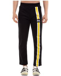 Palm Angels Logo Striped Track Pants - Black