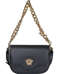Versace La Medusa Shoulder Bag - Black