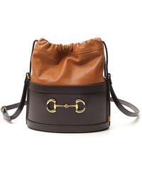 Gucci 1955 Horsebit Bucket Bag - Brown