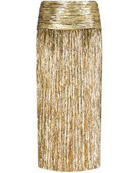 Saint Laurent Pleated Skirt - Metallic