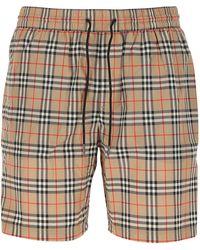 Burberry Vintage Check Swim Shorts - Natural