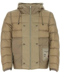 C.P. Company Khaki Nylon Down Jacket Uomo - Natural