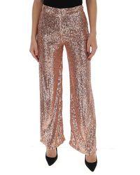L'Autre Chose Sequin Embellished Pants - Pink