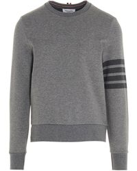 Thom Browne 4-bar Crewneck Sweatshirt - Gray